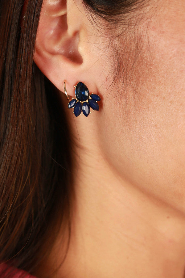 Secret Soiree Earrings in Indigo Blue