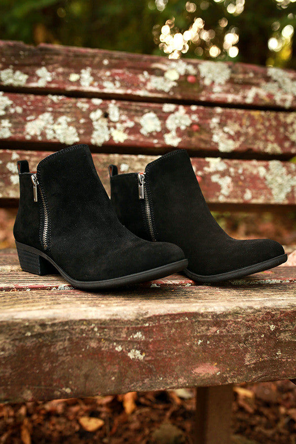 Basel Bootie in Black Suede