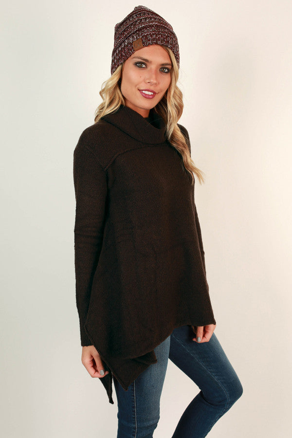 Finding Serendipity Tunic Sweater In Chestnut