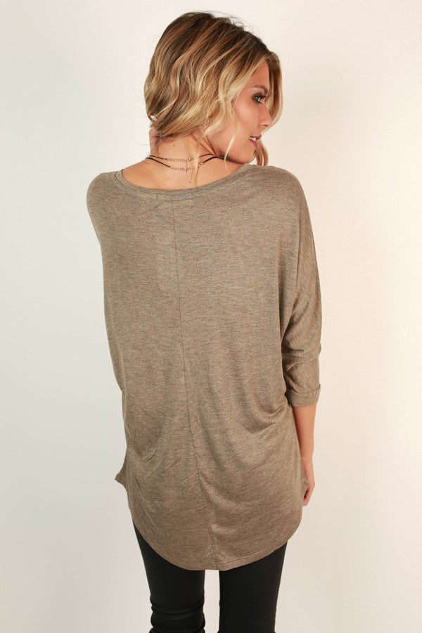 My Time Is Yours Tunic in Taupe
