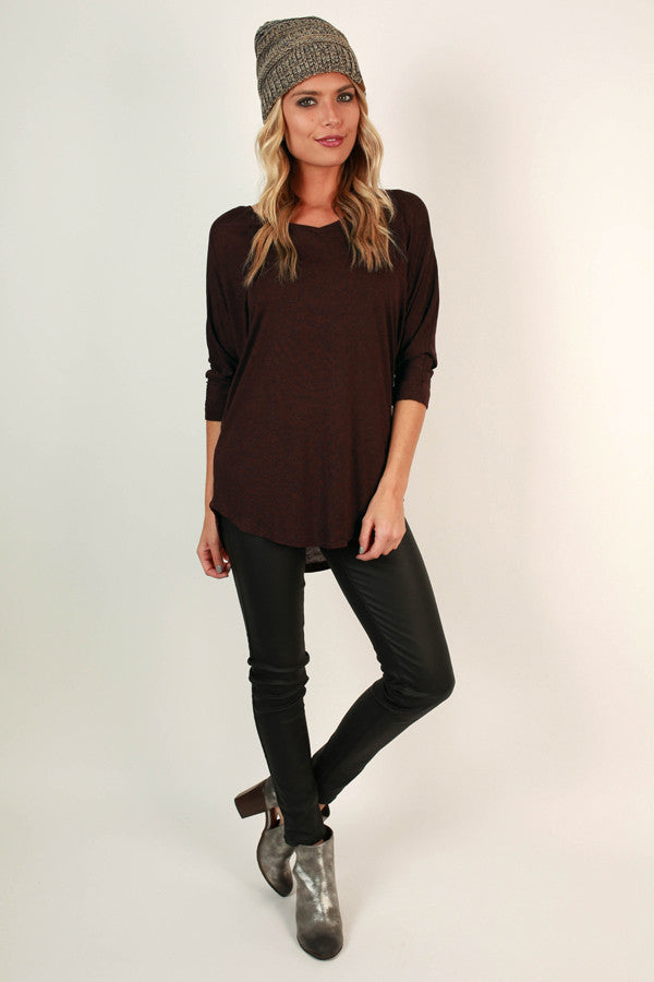 My Time Is Yours Tunic in Burgundy