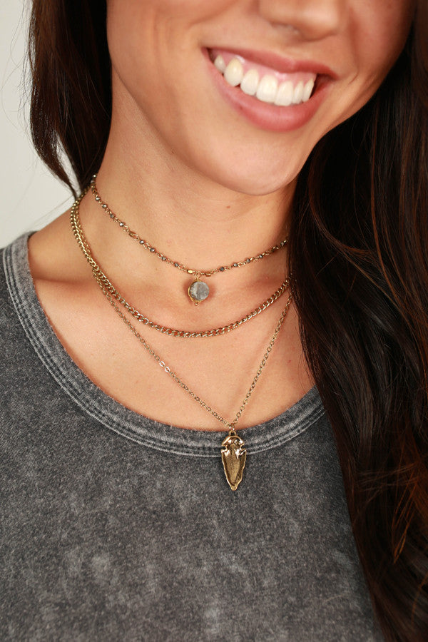Bronze Beauty Druzy Layered Necklace