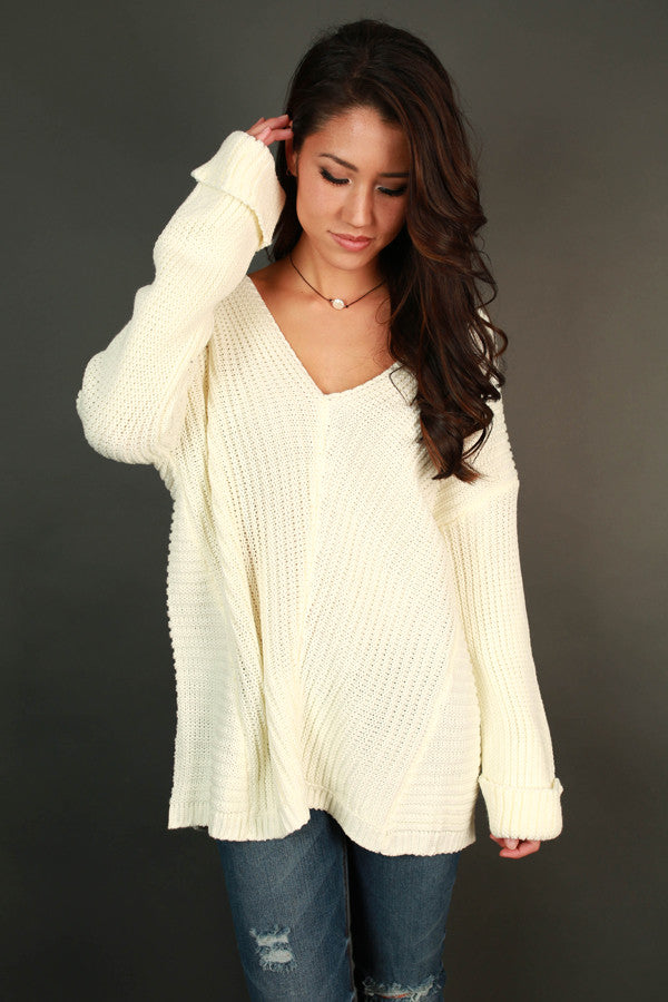 Sweeter Than Sugar Sweater In Ivory