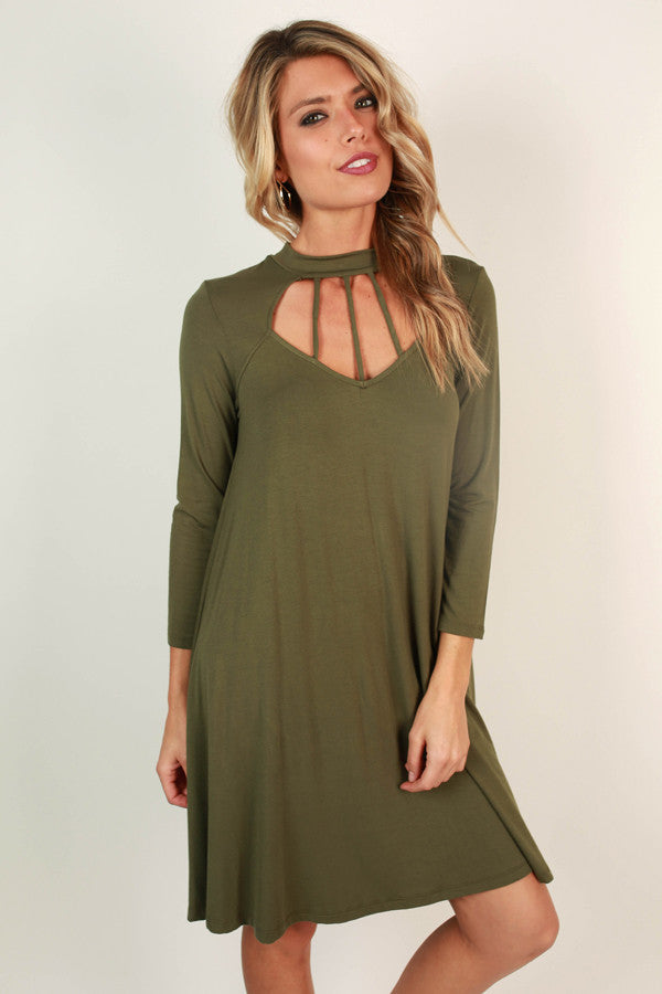 Cali Romance Cut Out Shift Dress