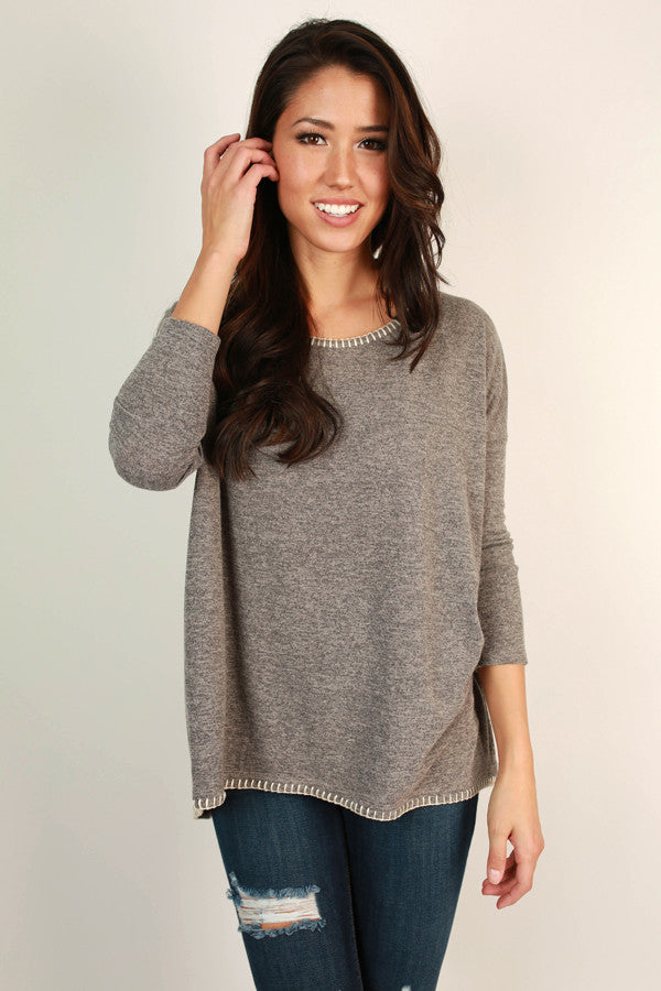Kiss Me Good Morning Tunic Sweater