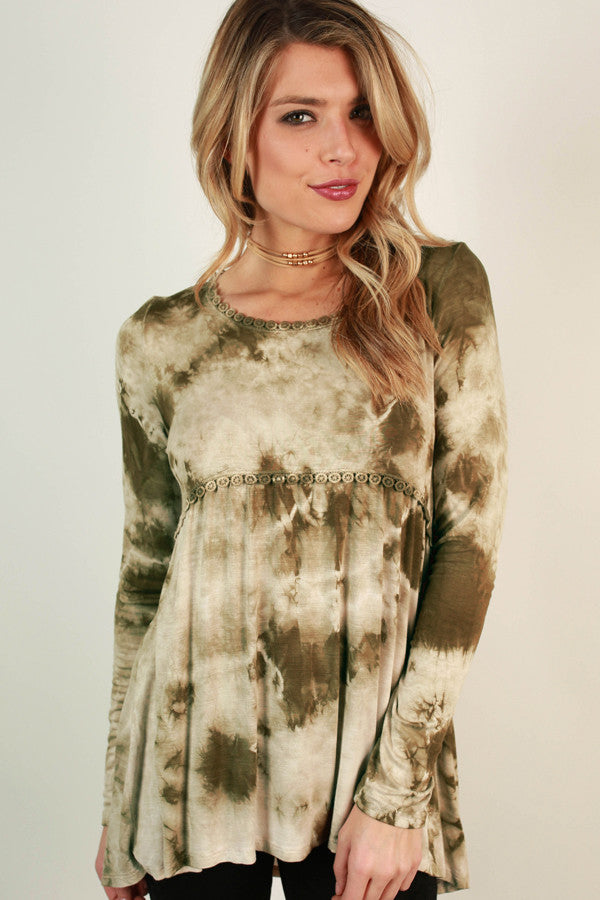 Babydoll Bliss Tie Dye Top