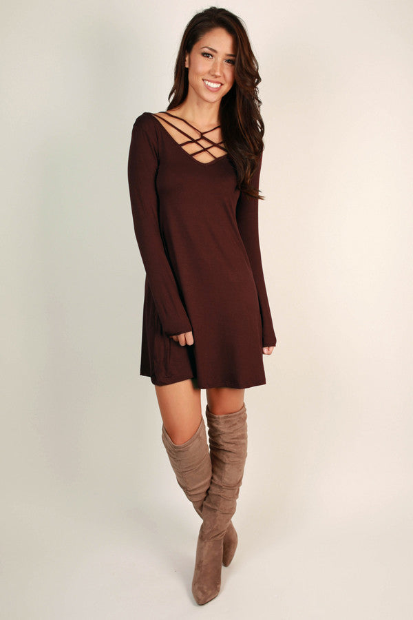 Keeping Promises Criss Cross Mini in Maroon