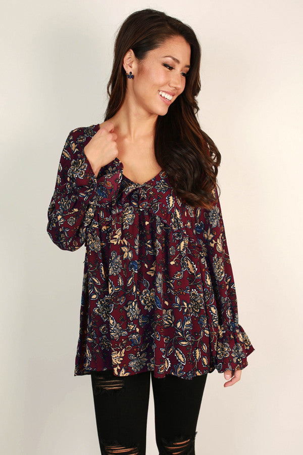Twirls On Repeat Babydoll Top
