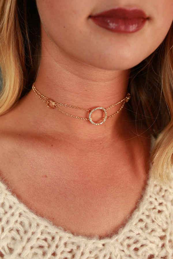Sparkle In The City Choker Necklace