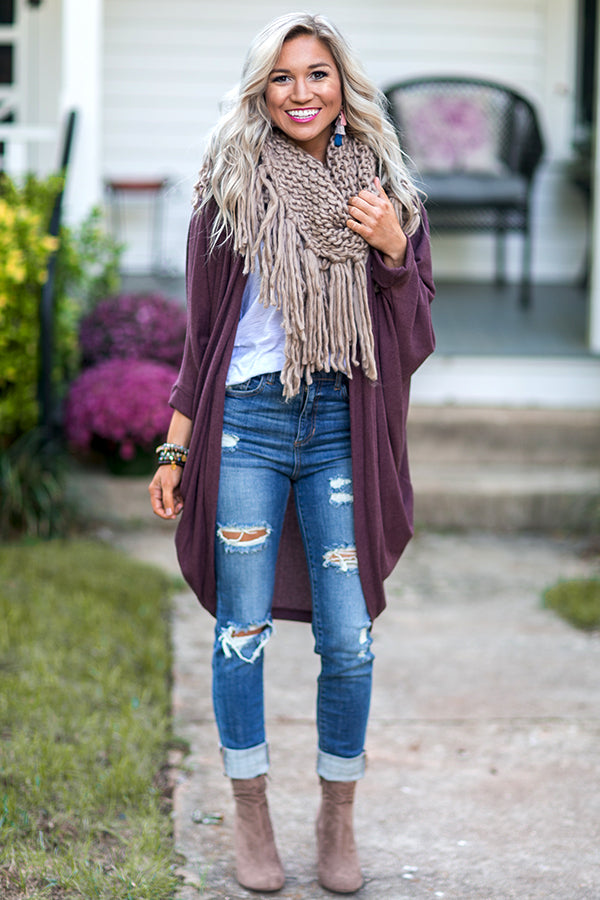 Fall Perfection Scarf in Mocha