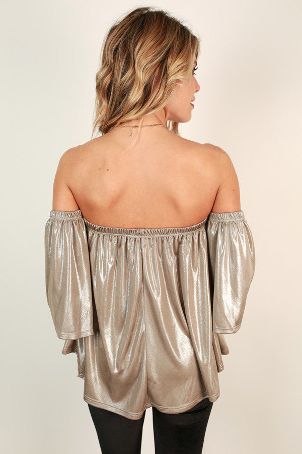 Holiday Party Hopping Off Shoulder Top