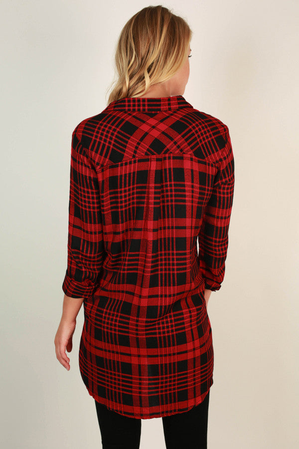 Coziest In Plaid Tunic