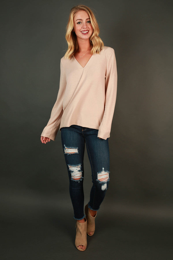 Looking Lovely Sweater in Nude