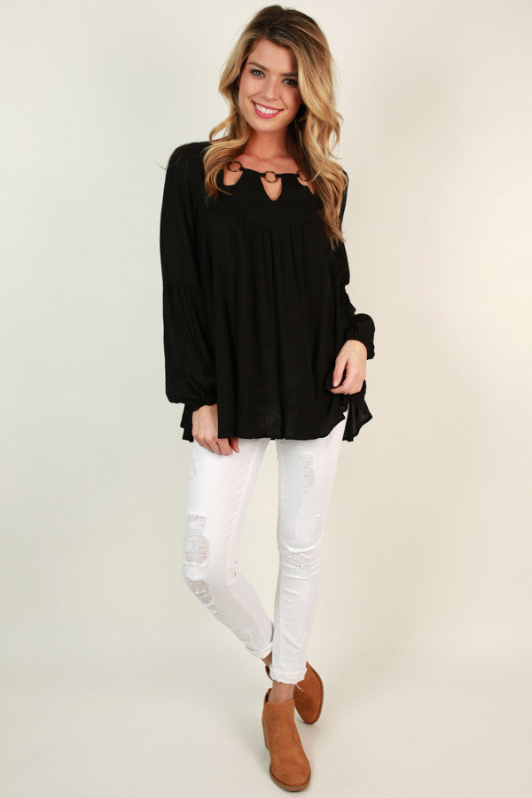 Center Of The Universe Top In Black