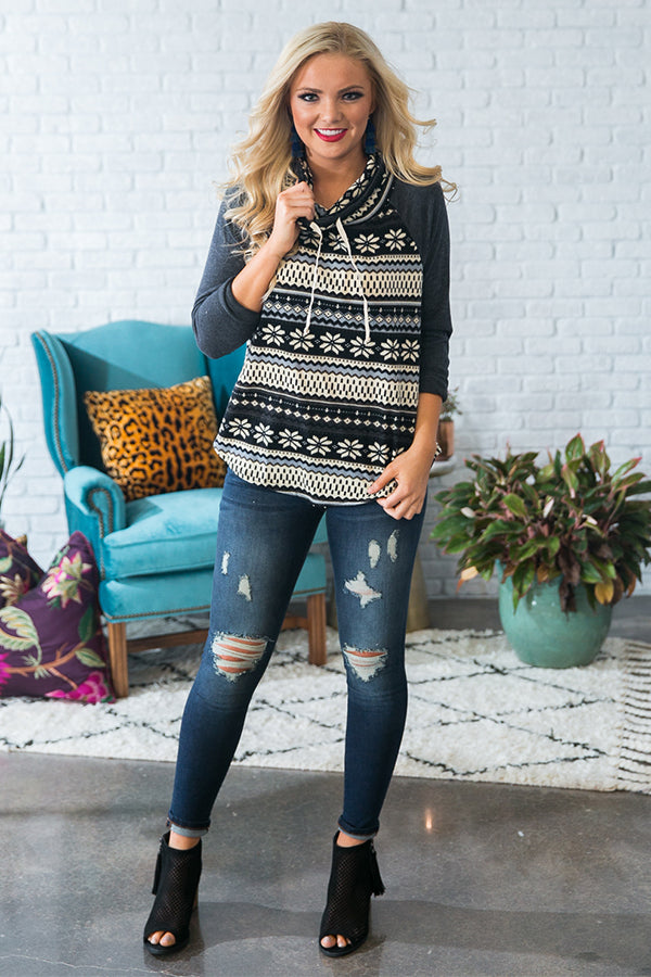 Ski Trip Ready Sweater in Charcoal