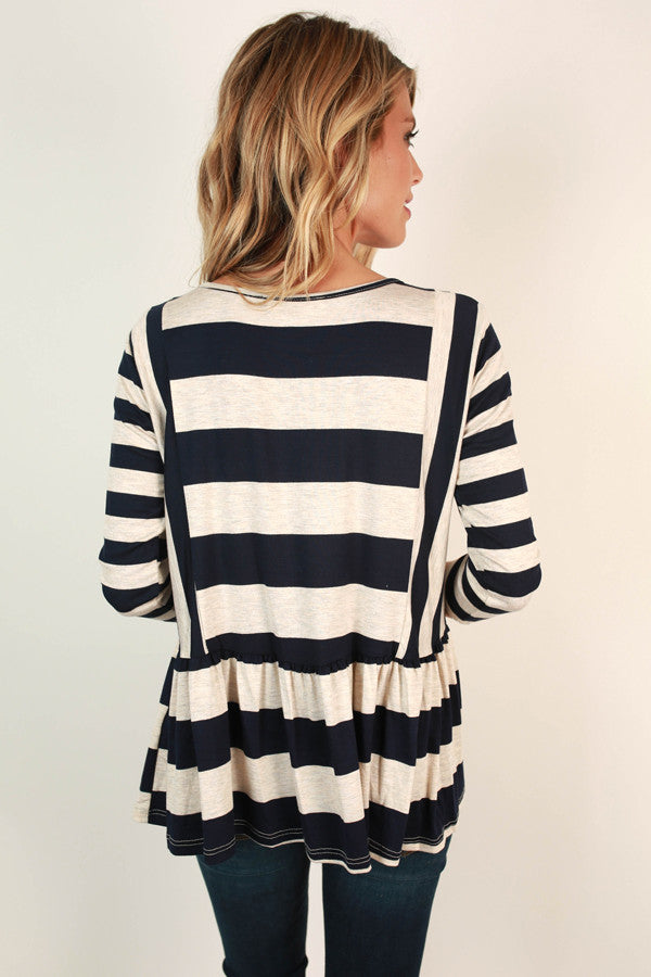 Saturday Stripes Top