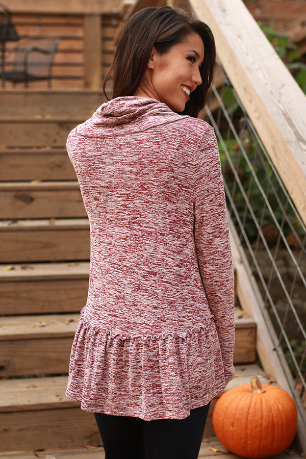 Wonderful Life Sweater In Wine
