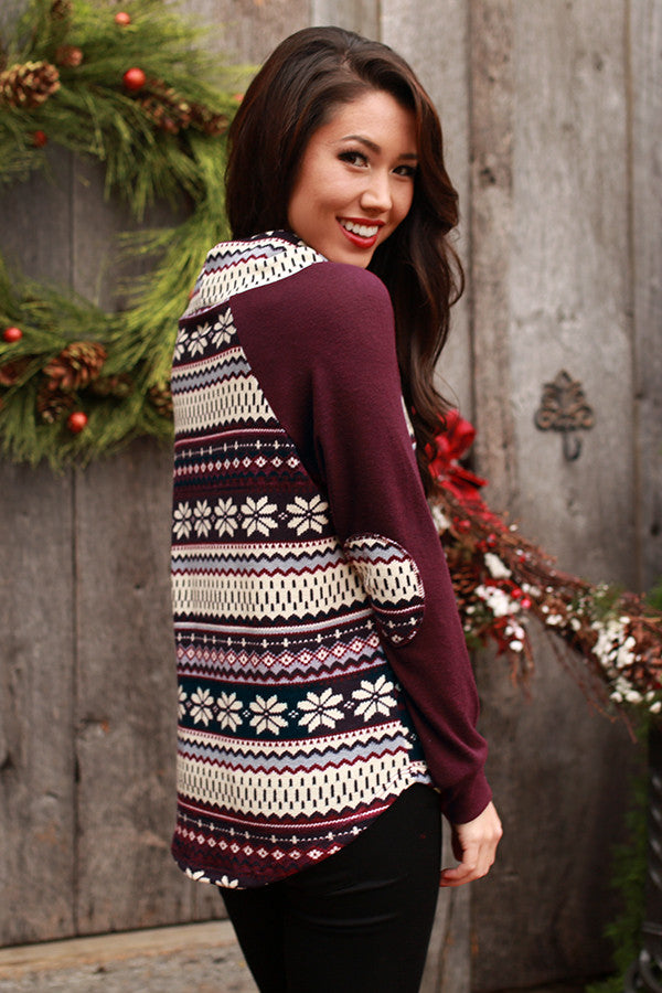 Ski Trip Ready Sweater In Maroon