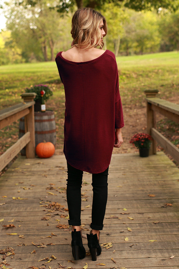 The Parker Tunic in Merlot
