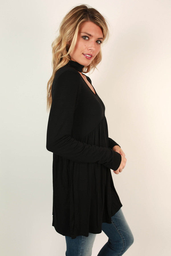 Chic On Repeat Babydoll Top in Black