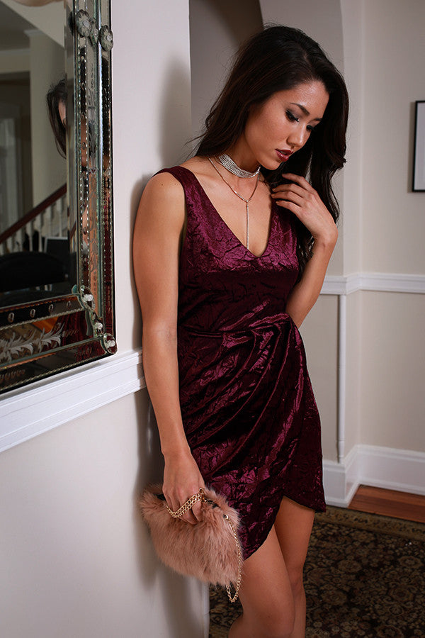 Rooftop Soiree Velvet Dress