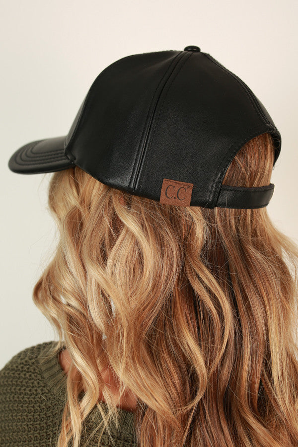 Foxy Lady Faux Leather Hat