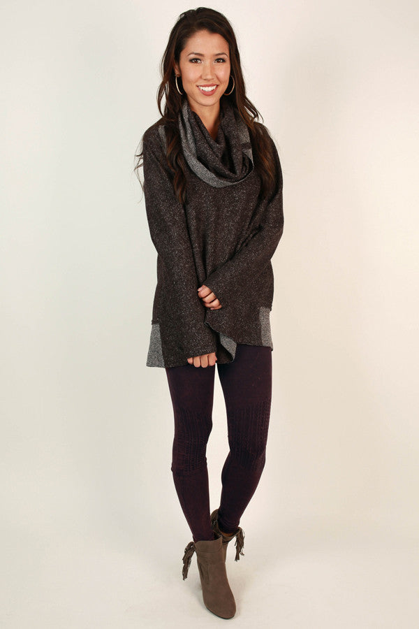 Cozy Chic Seamless Vintage Legging in Windsor Wine