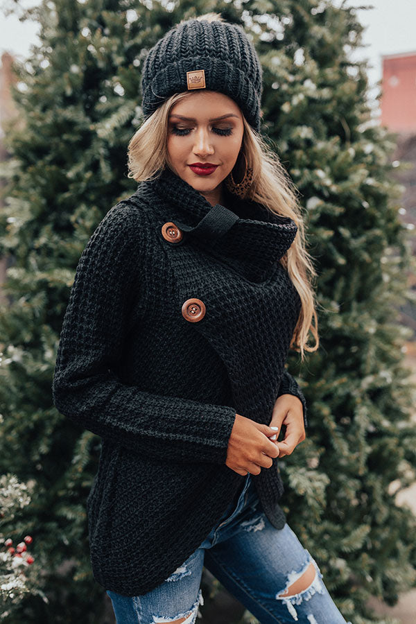 Sweeter Than Cider Sweater in Black