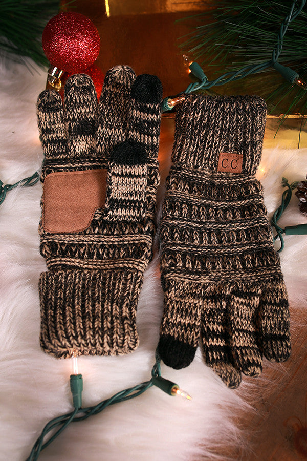Beautiful Warmth Tech Gloves in Beige Blend