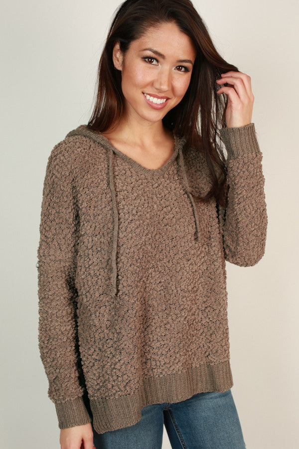 Warm Fuzzy Feelin' Sweater in Taupe