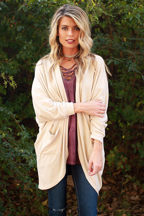 The Blakely Cardigan in Cappuccino Cuddles