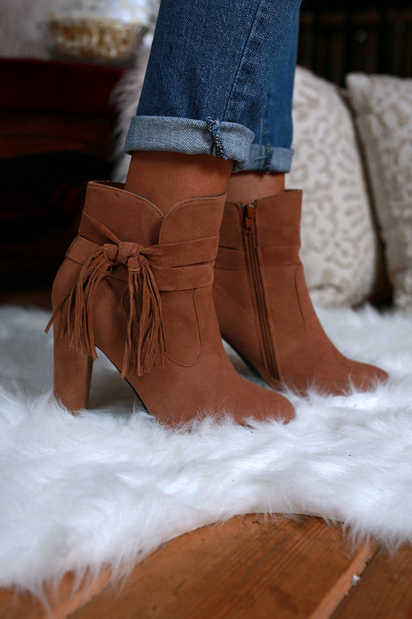 Memories In The Making Ankle Bootie in Camel