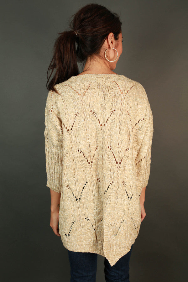 Bring On The Chill Sweater in Beige