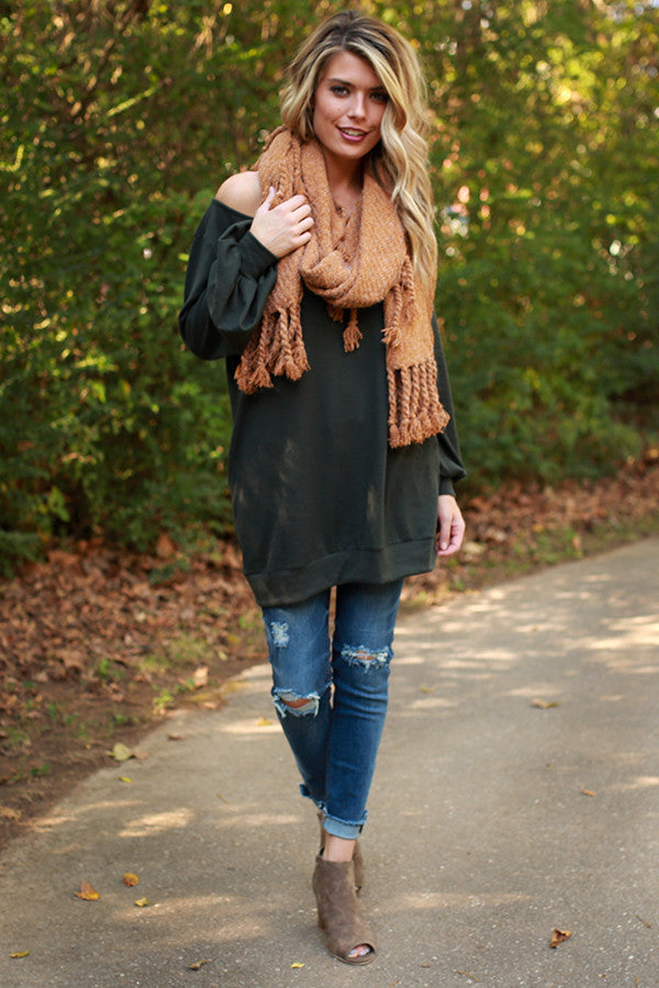 The Brooklyn Tunic Sweater in Napa Olive