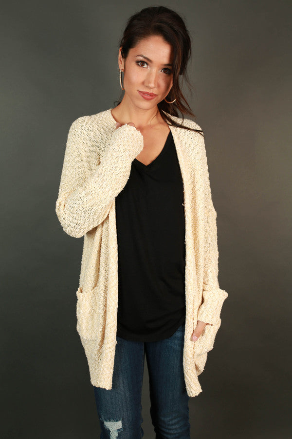 Afternoon Stroll Cardigan in Cream