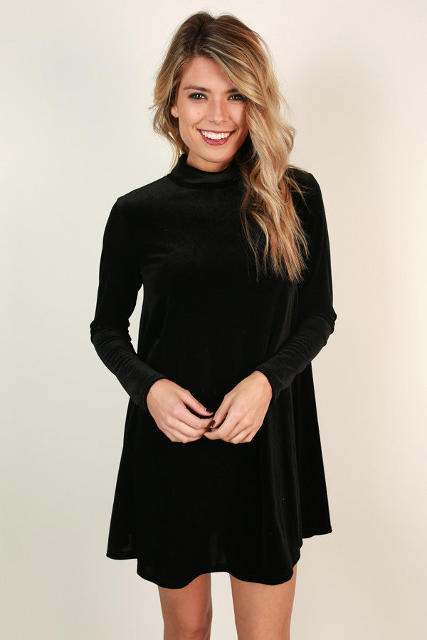 Happiest With You Velvet Shift Dress
