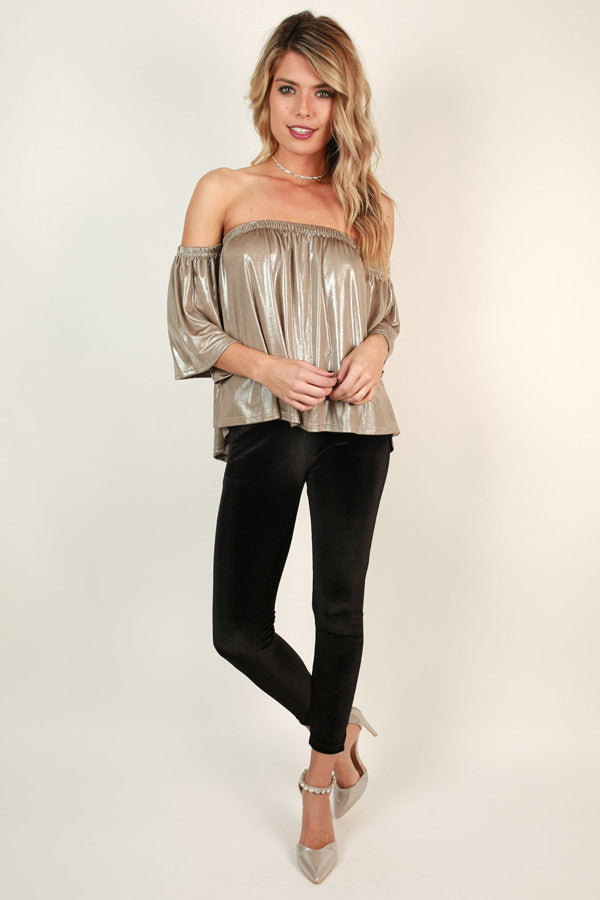 Holiday Cheer Velvet Skinny In Black