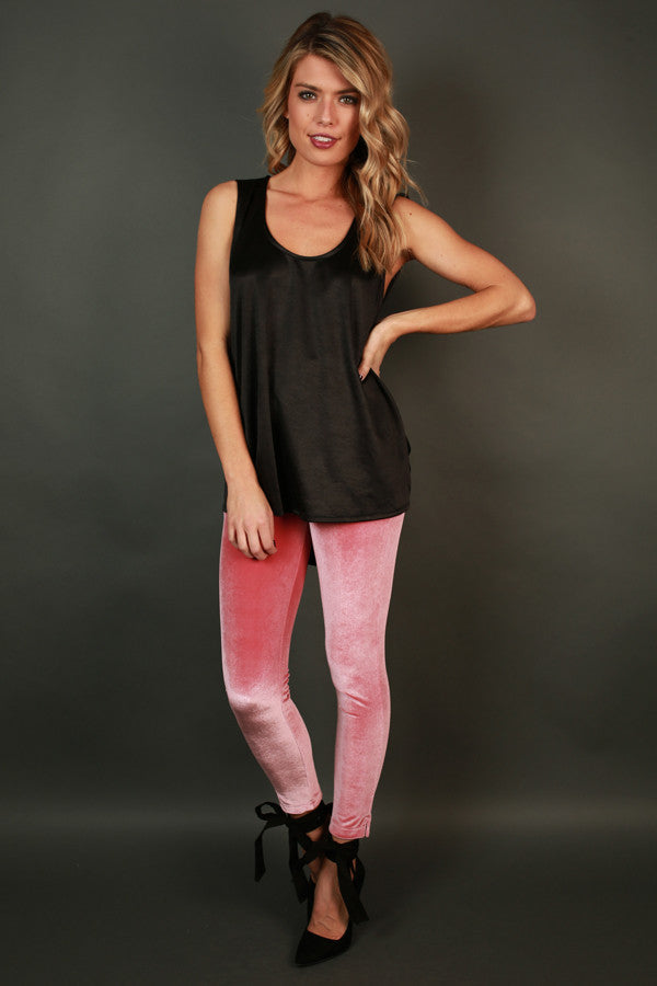 Holiday Cheer Velvet Skinny In Blush