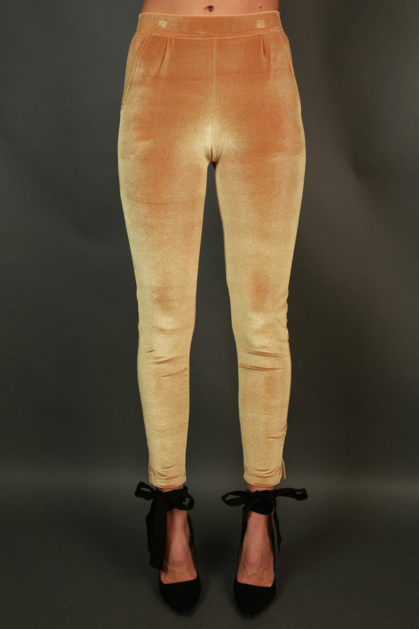 Holiday Cheer Velvet Skinny In Tuscan Sun
