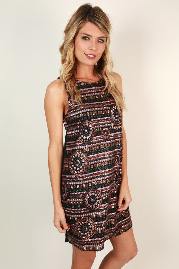 Chic In The City Sequin Dress