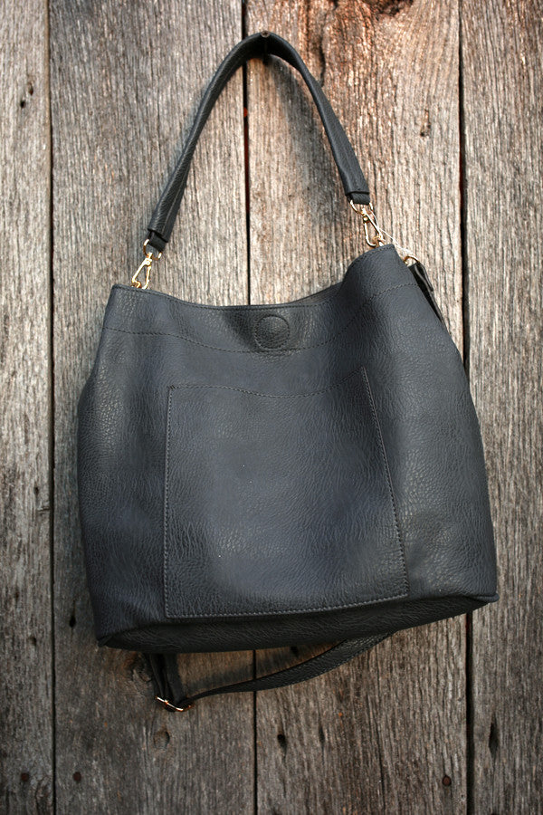 Evening Escape Tote in Charcoal