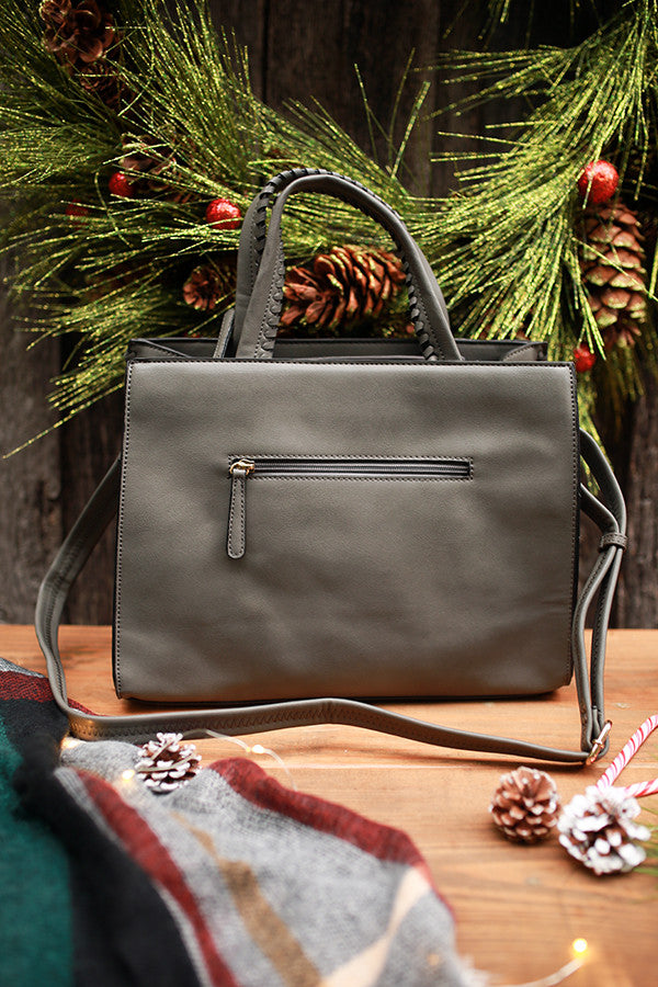 Chic Essentials Tote in Dark Grey