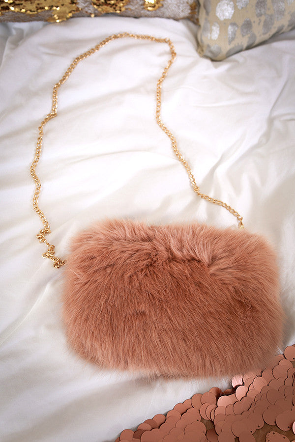 You're Making Me Blush Faux Fur Clutch