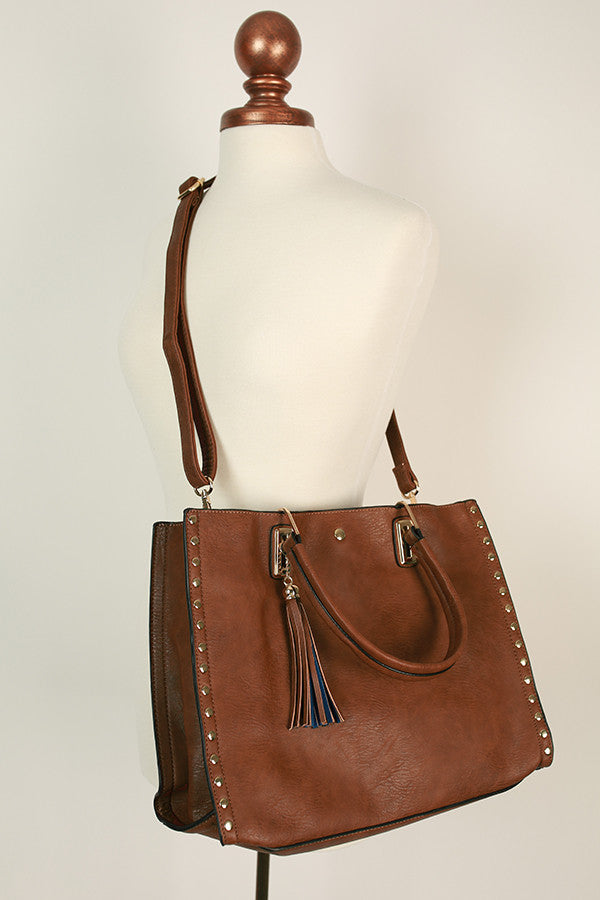 Cosmopolitan Chic Tote in Brown