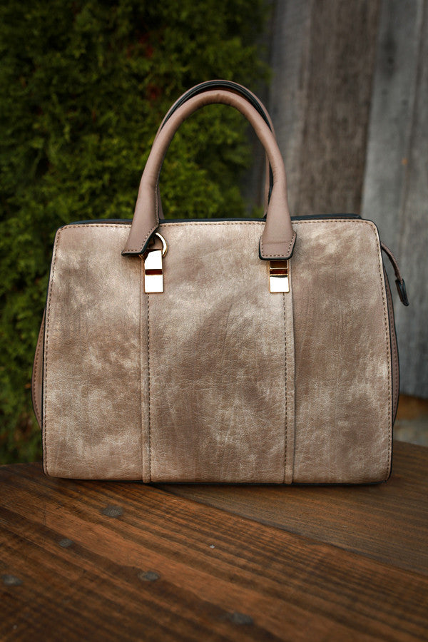 Sweetest Travels Tote in Taupe
