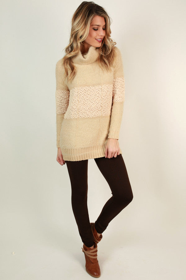 High Waist Fleece Lined Legging in Chestnut