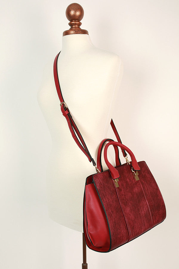 Sweetest Travels Tote in Crimson