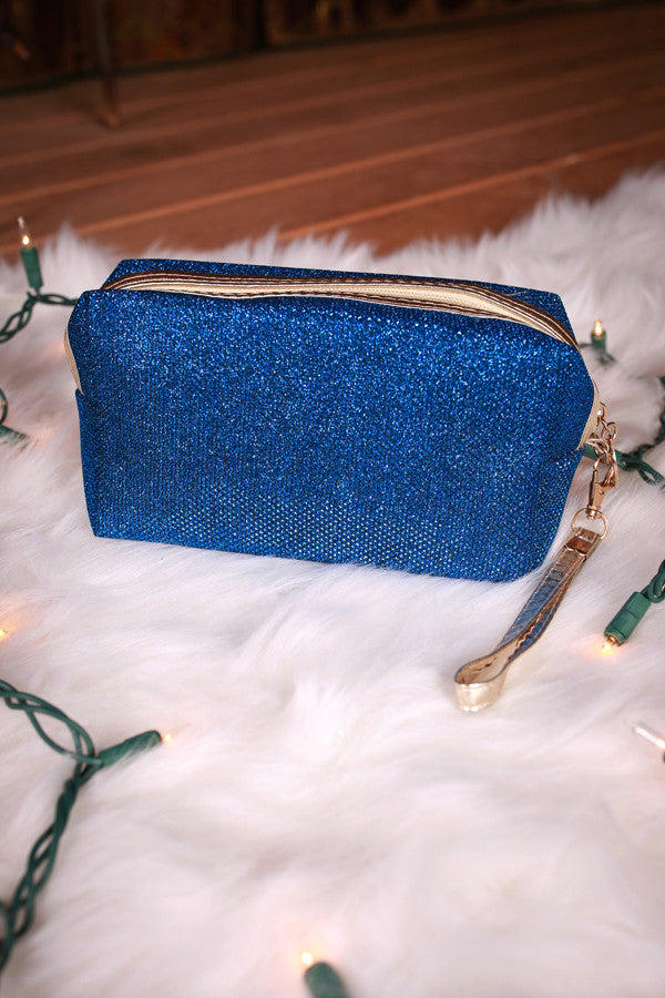 Sweet Shimmers Cosmetic Bag in Blue