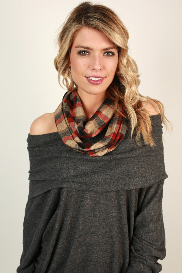 Fireside Plaid Infinity Scarf