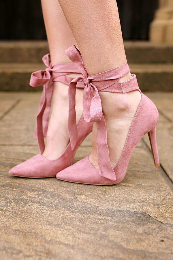 Take A Bow Heel in Blush